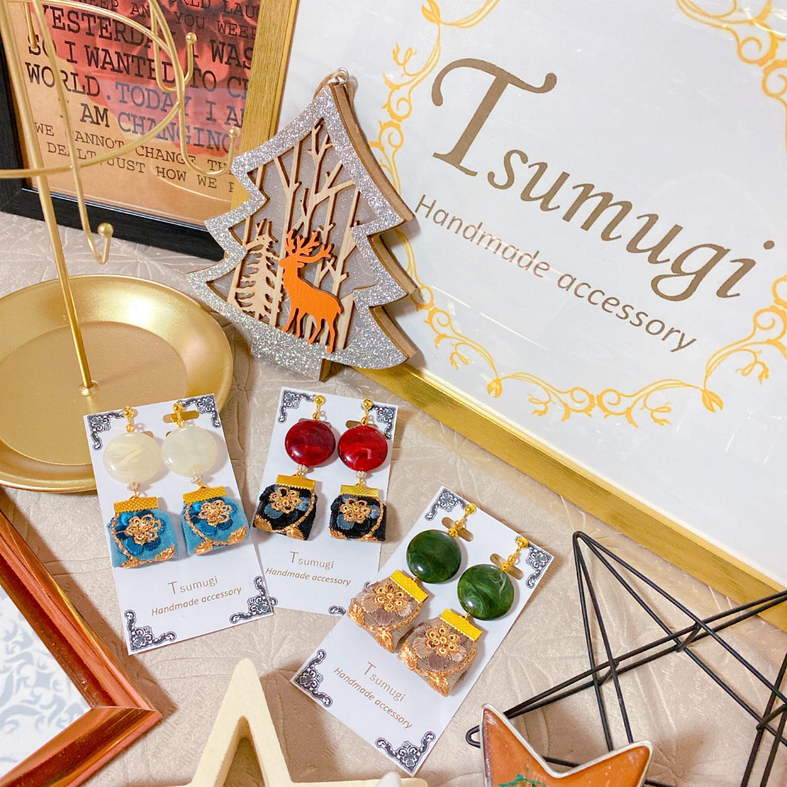 -Tsumugi-handmade accessory.山野流着付け教室.出張着付け.ワークショップ.イベント出店.つまみ細工